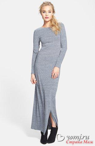 Шерстяное обтягивающее платье