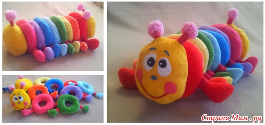 Развивающие игрушки своими руками гусеница