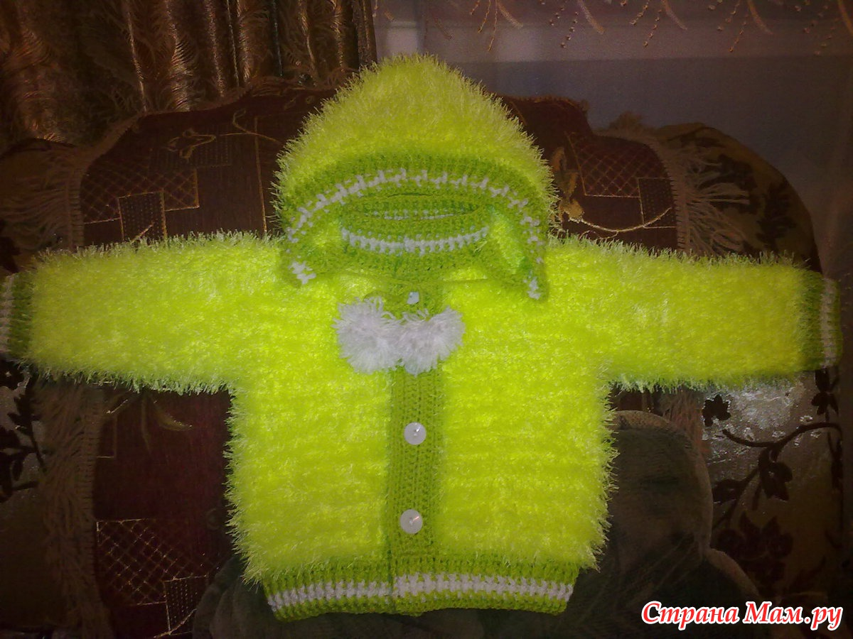 Вязание кофточки ребенку из травки