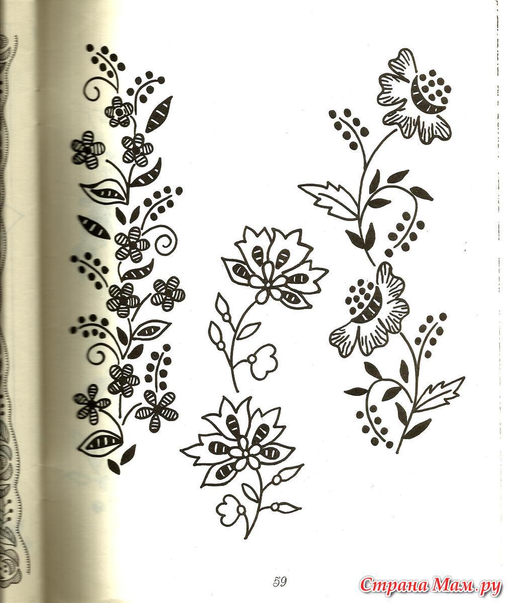 Цветочный орнамент вышивка на одежде
