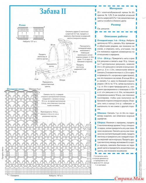Вязаная колясочка - описание и схема.