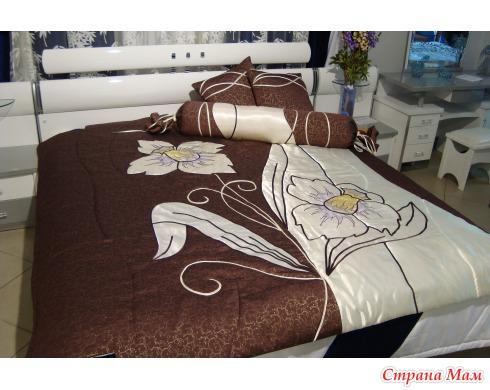 Как из ткани сшить покрывало на кровать
