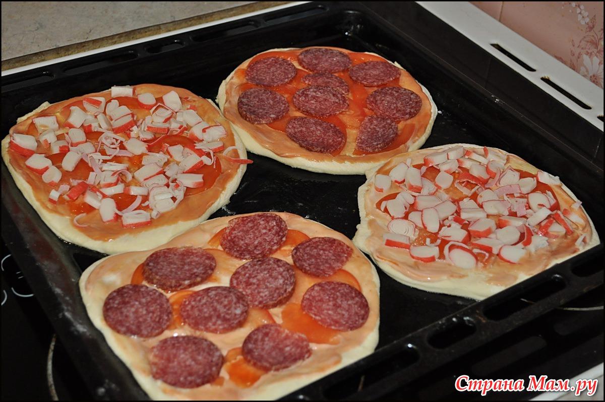 Пицца минутка в духовке рецепт