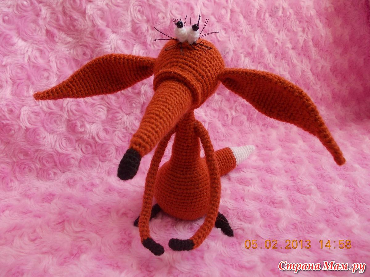 Вязание крючком игрушек амигуруми хитрый лис