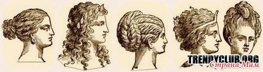 история прически древних греков фото