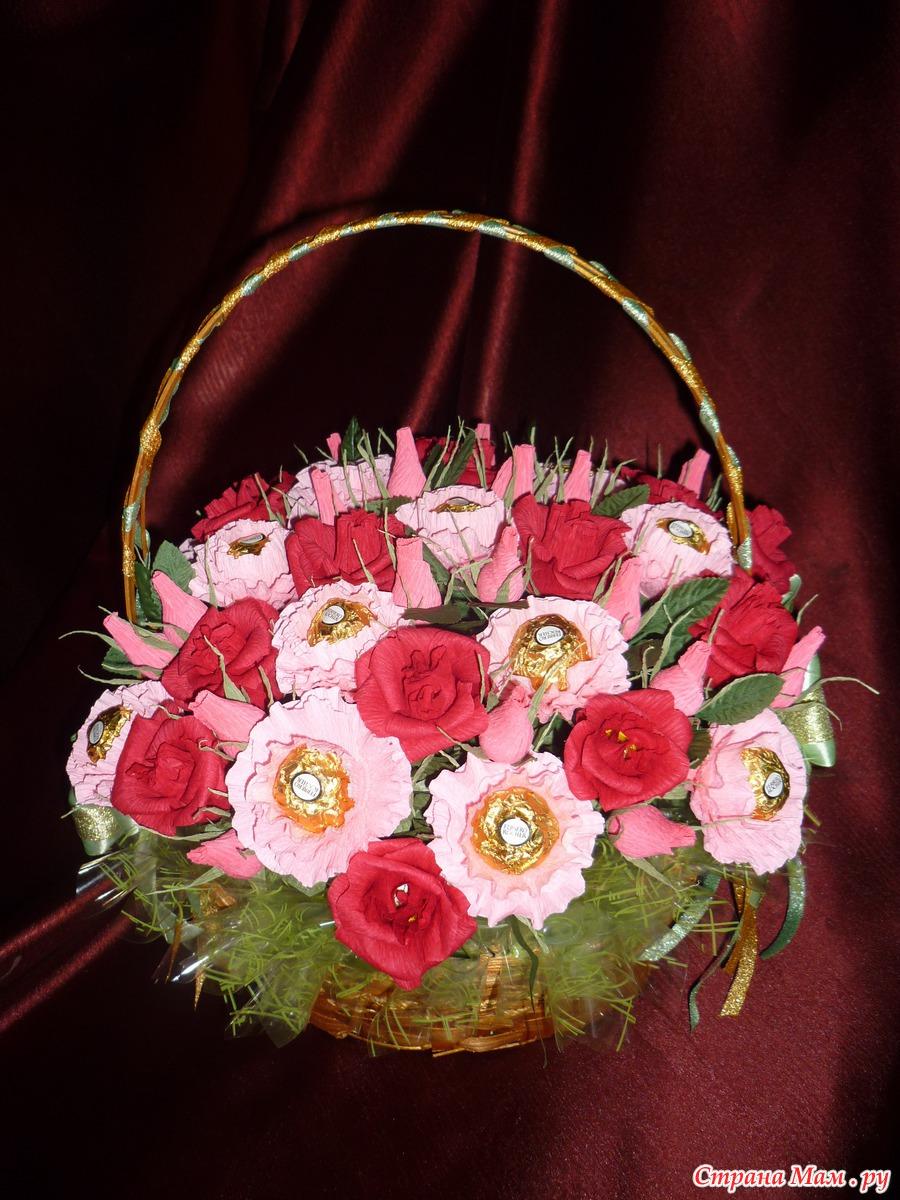 Цветы и конфеты на день рождения фото