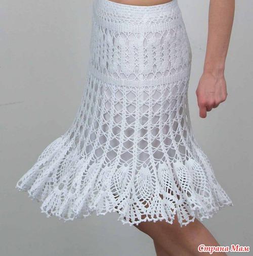 Воздушная юбка. Вяжем вместе