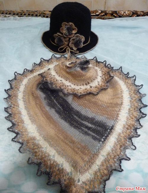 Вязание шали-фишю