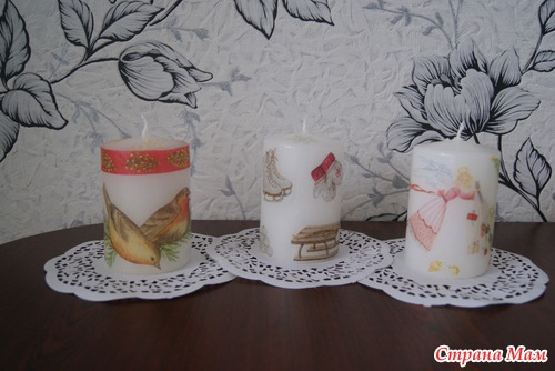 Салфетки для свечей своими руками