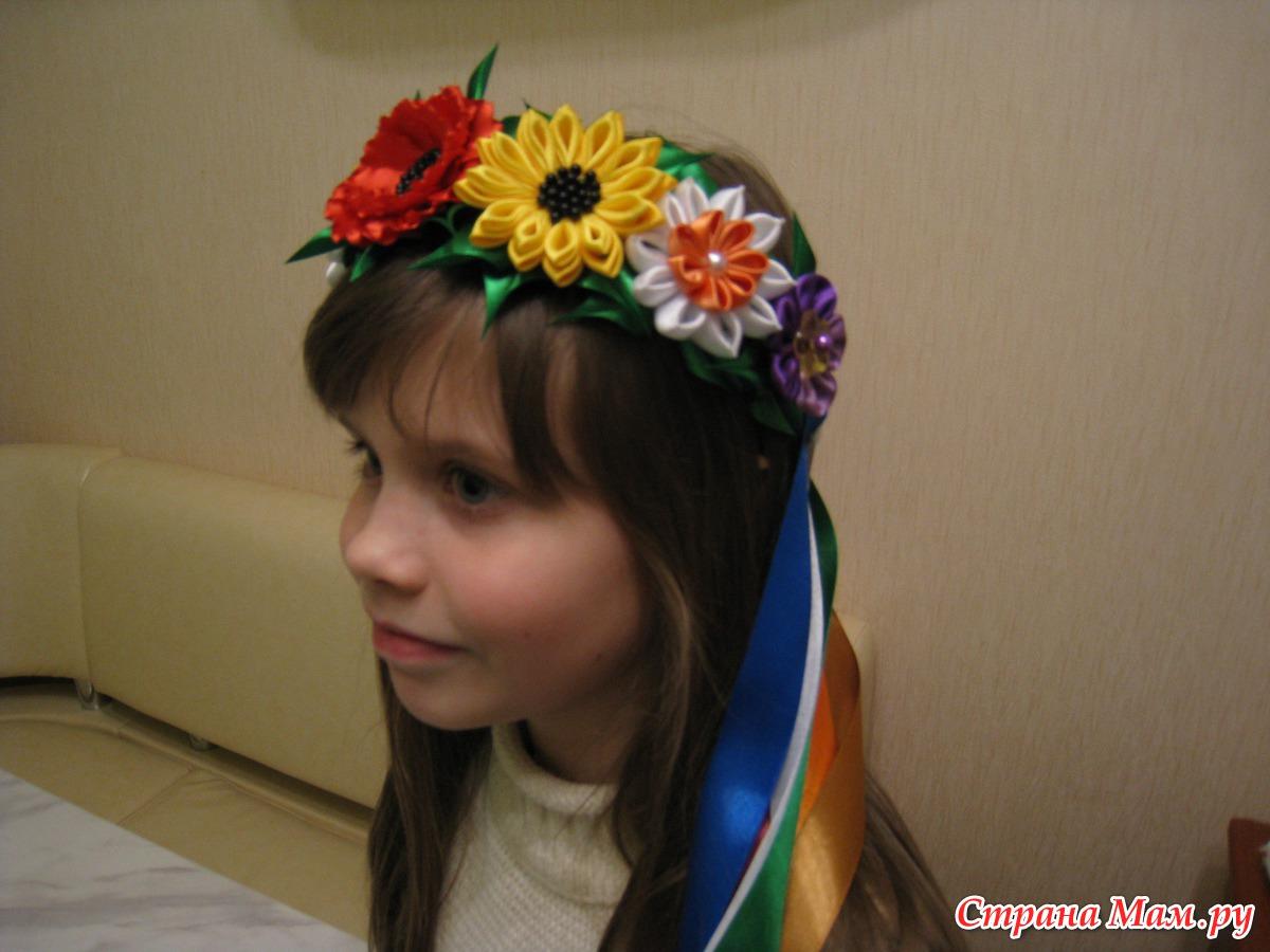Как сделать венки в украинском стиле