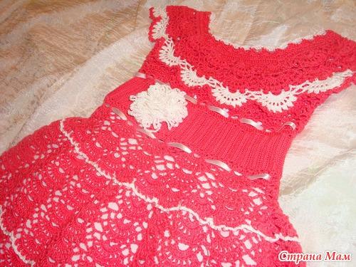 Коралловое настроение. Платье для доченьки.