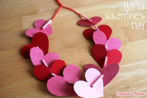Поделки валентинки для детей