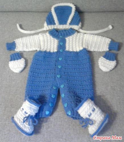 Страна мам вязание спицами комбинезон для новорожденного