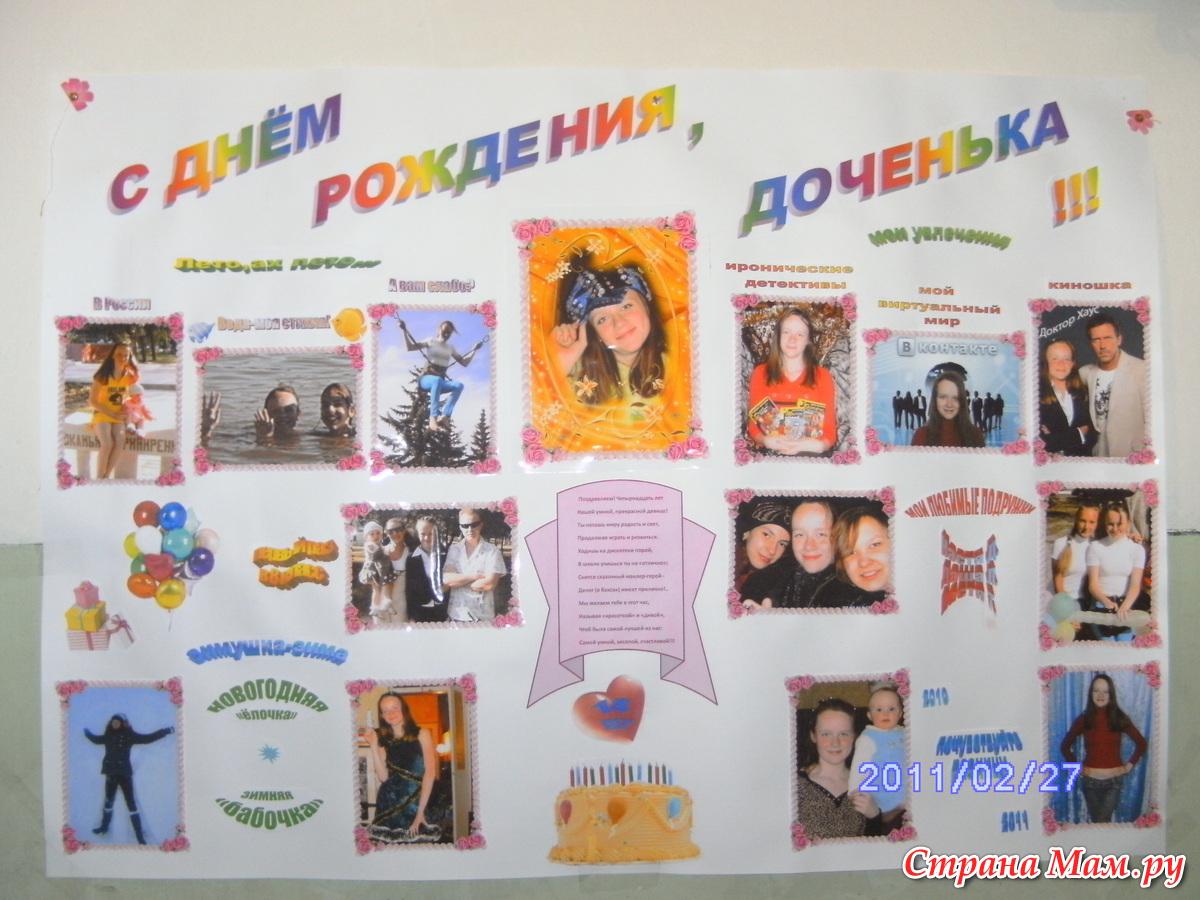 Плакат для лучшей подруги на день рождения своими руками сграфиями