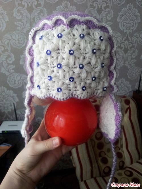 Вязание шапки ушанки для девочек подростка 70
