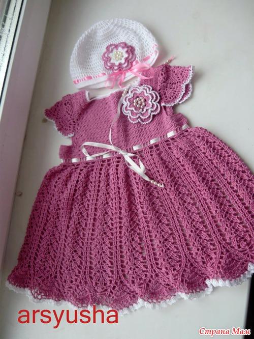 вязаная шапочка для девочки новорожденной видео уроки