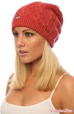 Вязаные женские шапки с косами спицами схемы с описанием