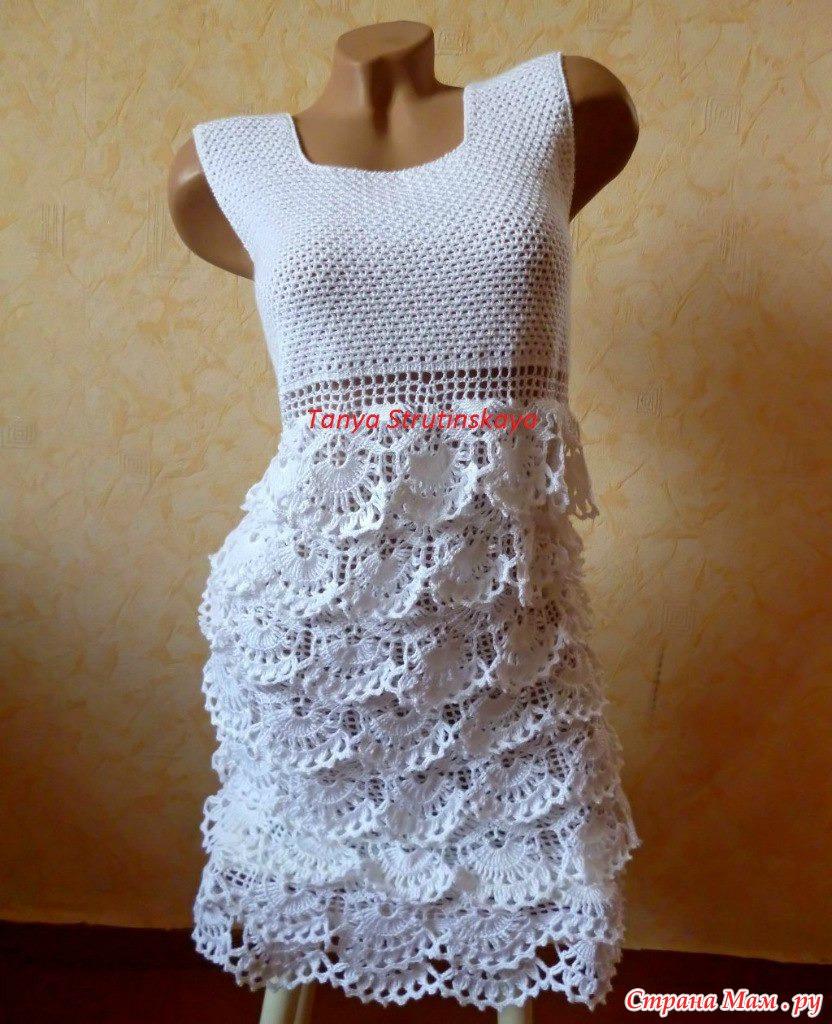 Платье крючком для девушки фото