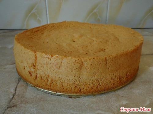 самый простой бисквит рецепт с фото пошагово