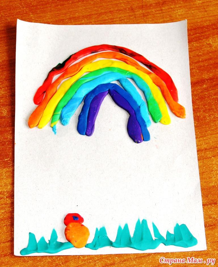 Поделка из пластилина с ребенком 4 года