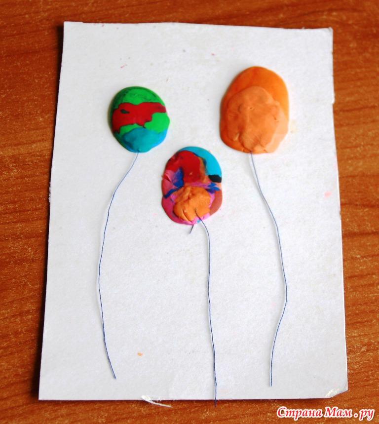 Поделки с пластилина 2 летними детьми