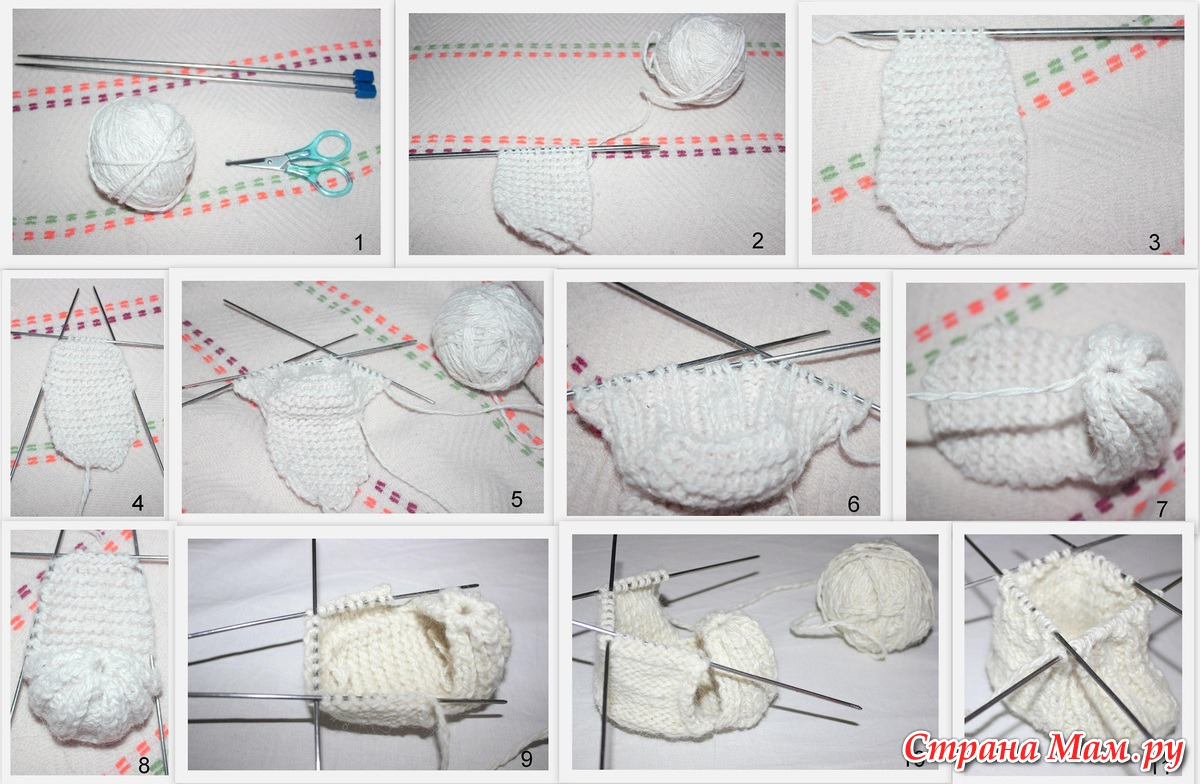 Пошаговый мастер-класс по вязанию пинеток