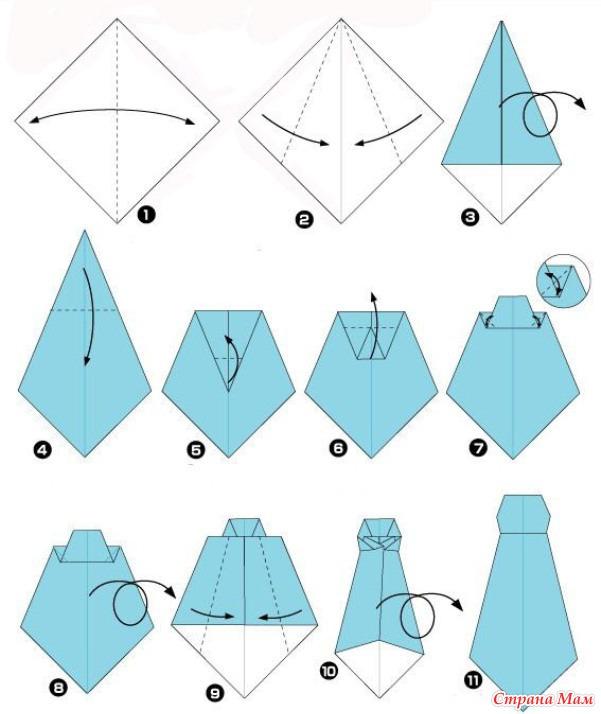 Оригами на открытку
