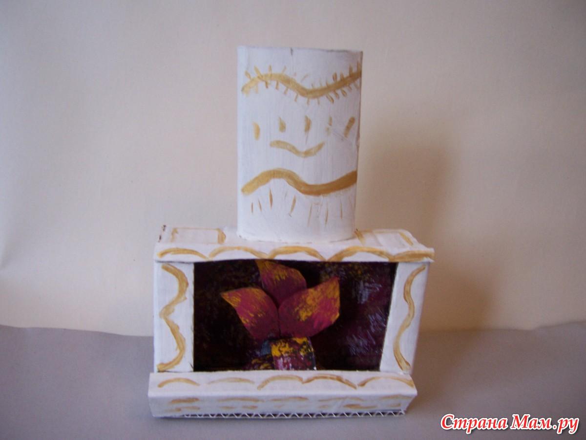 Как сделать камин из картона для кукол