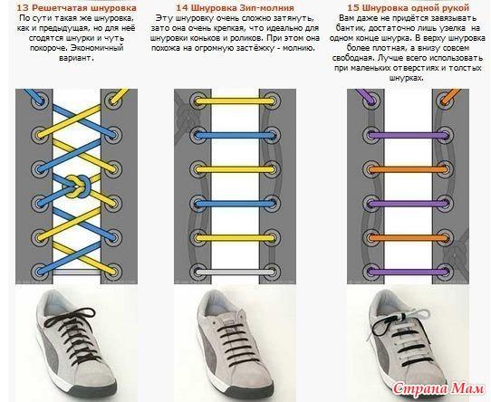 Как пошагово завязывать шнурки