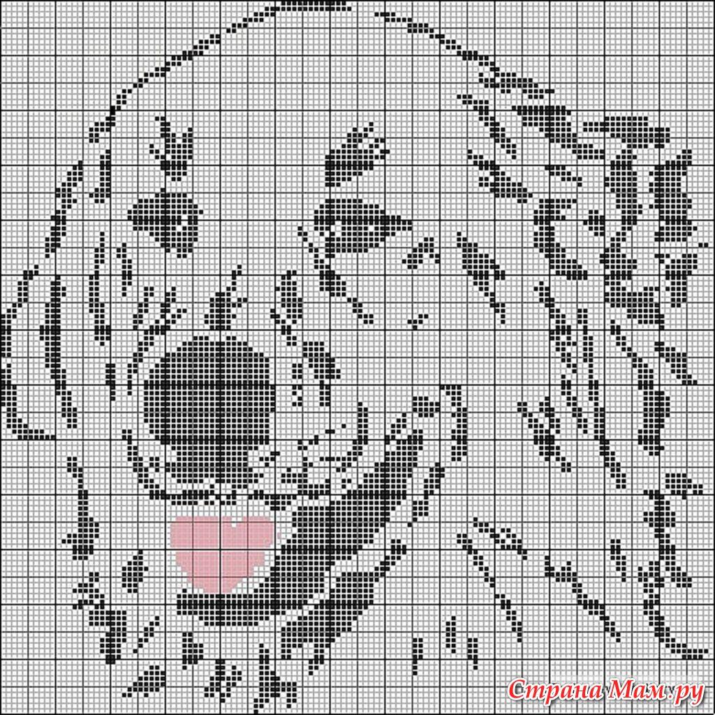 Как создать схему для вышивки крестом по фото черно-белое