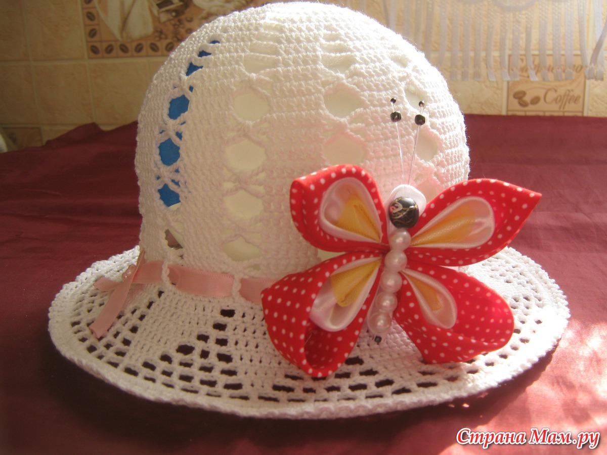 Вязание крючком цветы на шляпу