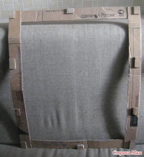 МК Рамка для зеркала из газетных трубочек