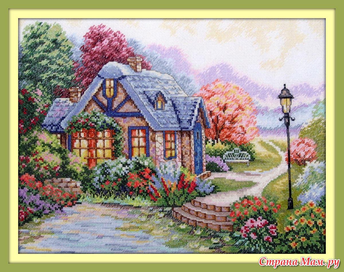 Вышивка дом милый дом схема