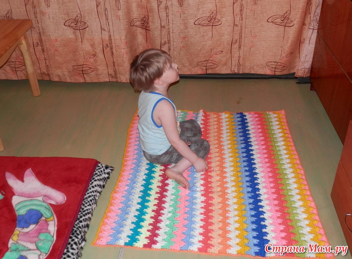 Вязаные детские коврики крючком своими руками