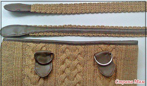 Как сделать ручки для вязаной сумки своими руками