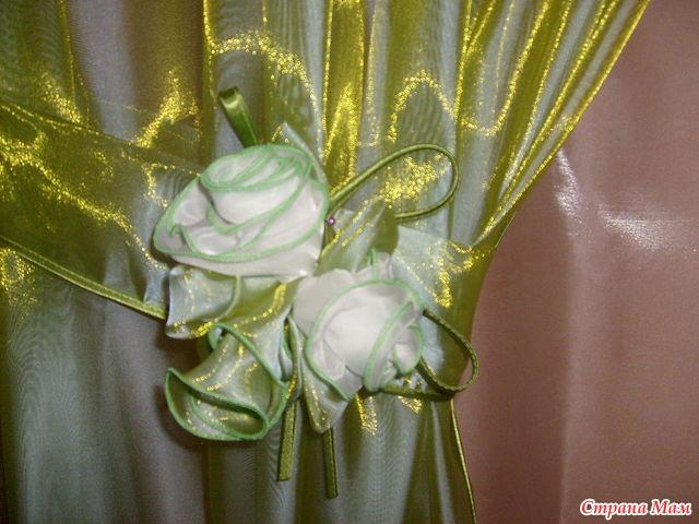 Цветы своими руками из ткани на шторы