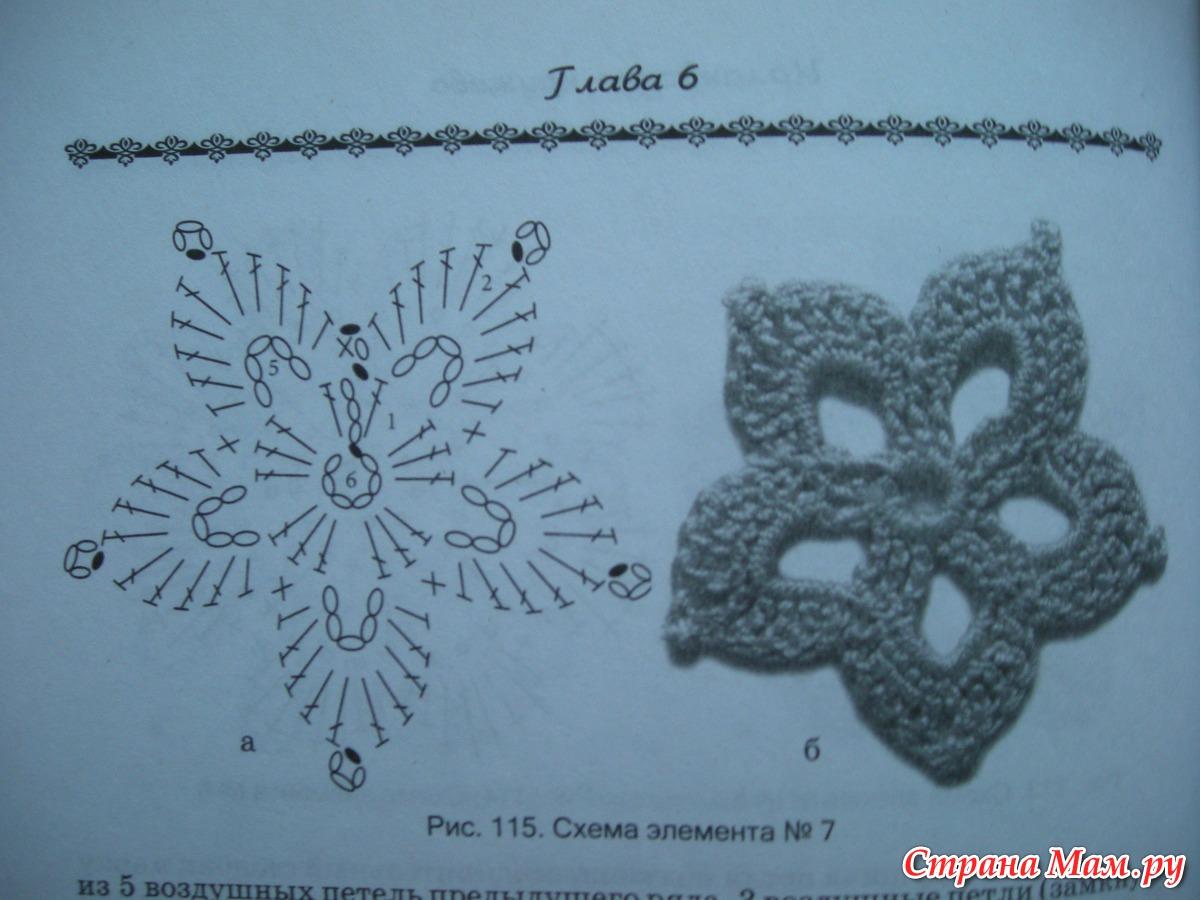 Миниатюрные цветы крючком 91