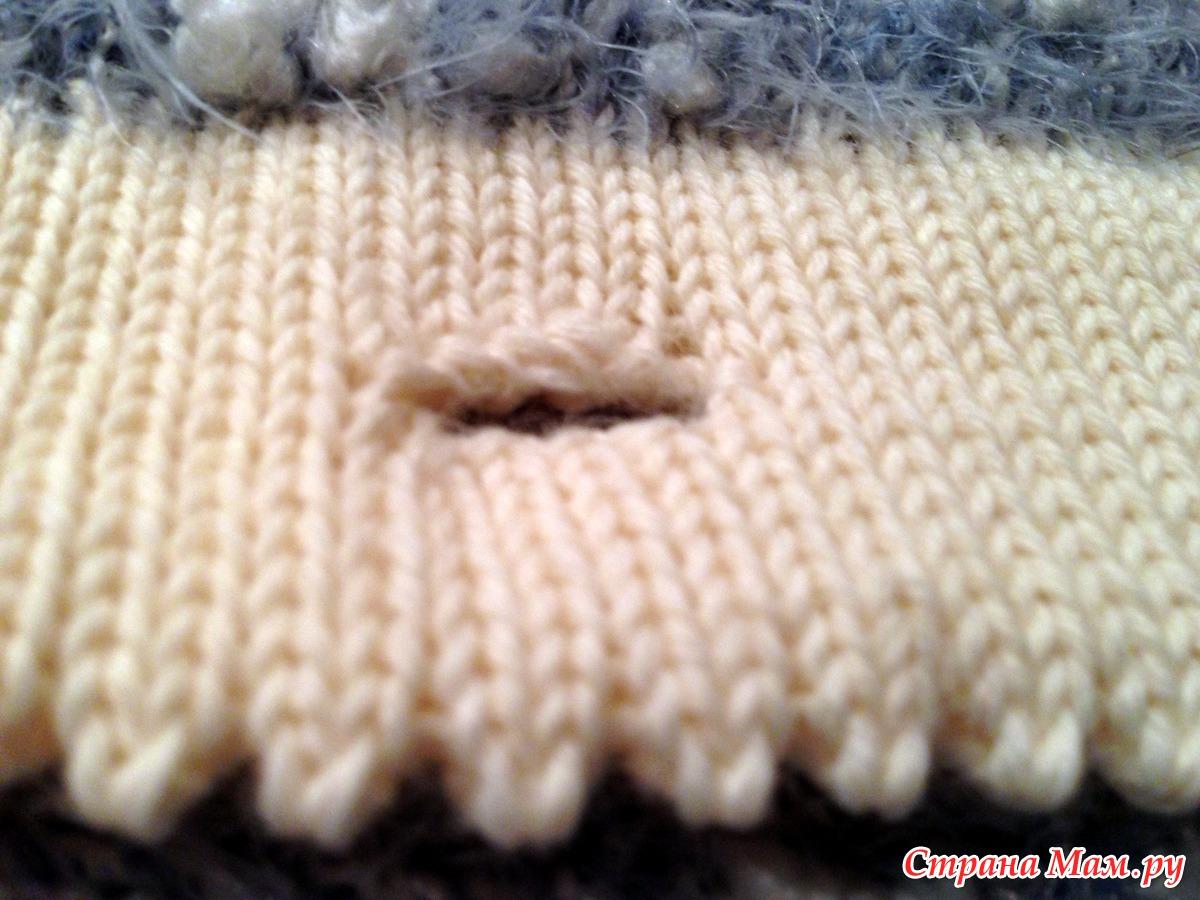 Край с зубчиком вязание