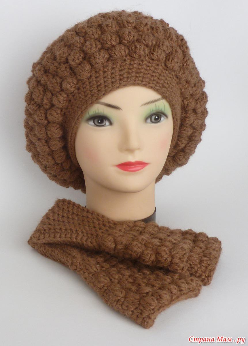 Мастер класс вязания шапок и беретов спицами