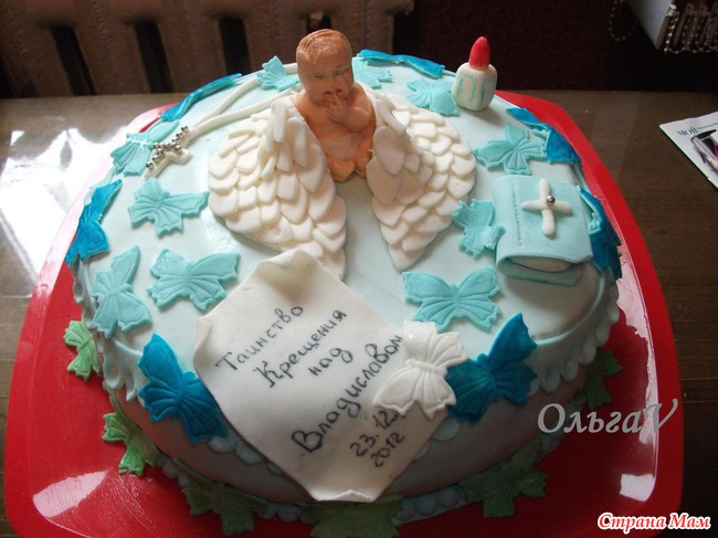 фото тортов для крещения