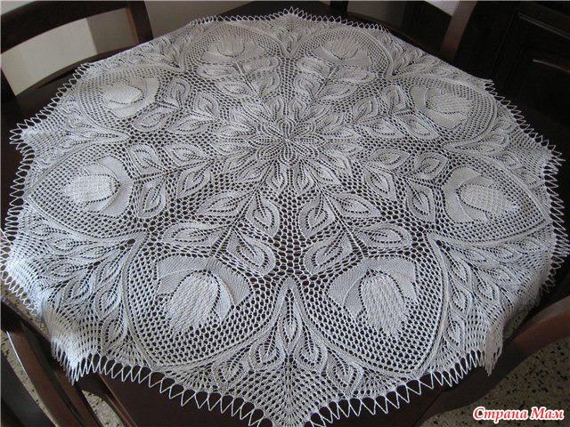 Схема вязания скатерти: