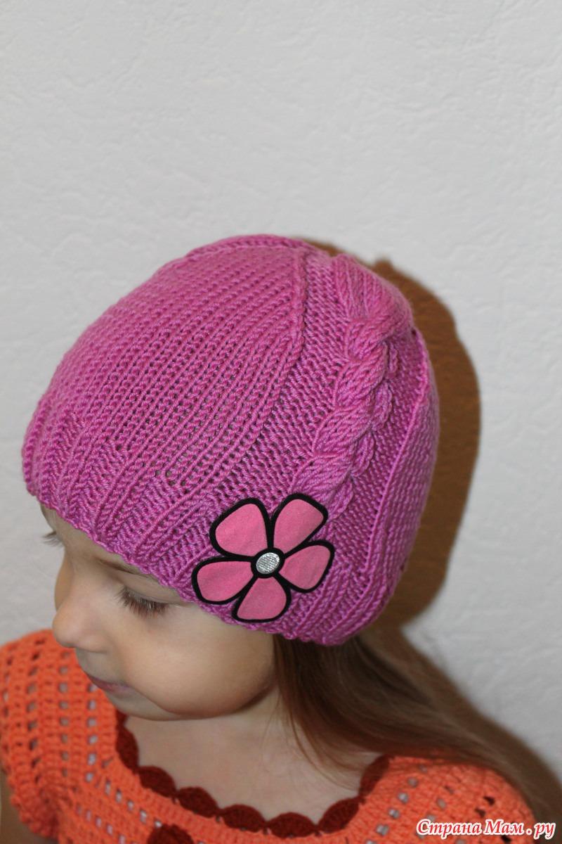 Вязание шапочки весна на девочек 744
