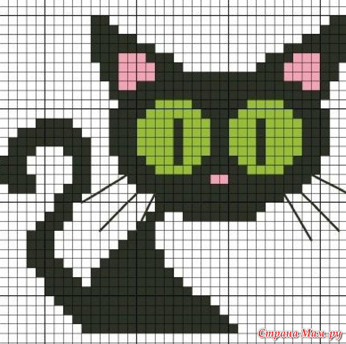 Узор котята для вязания спицами