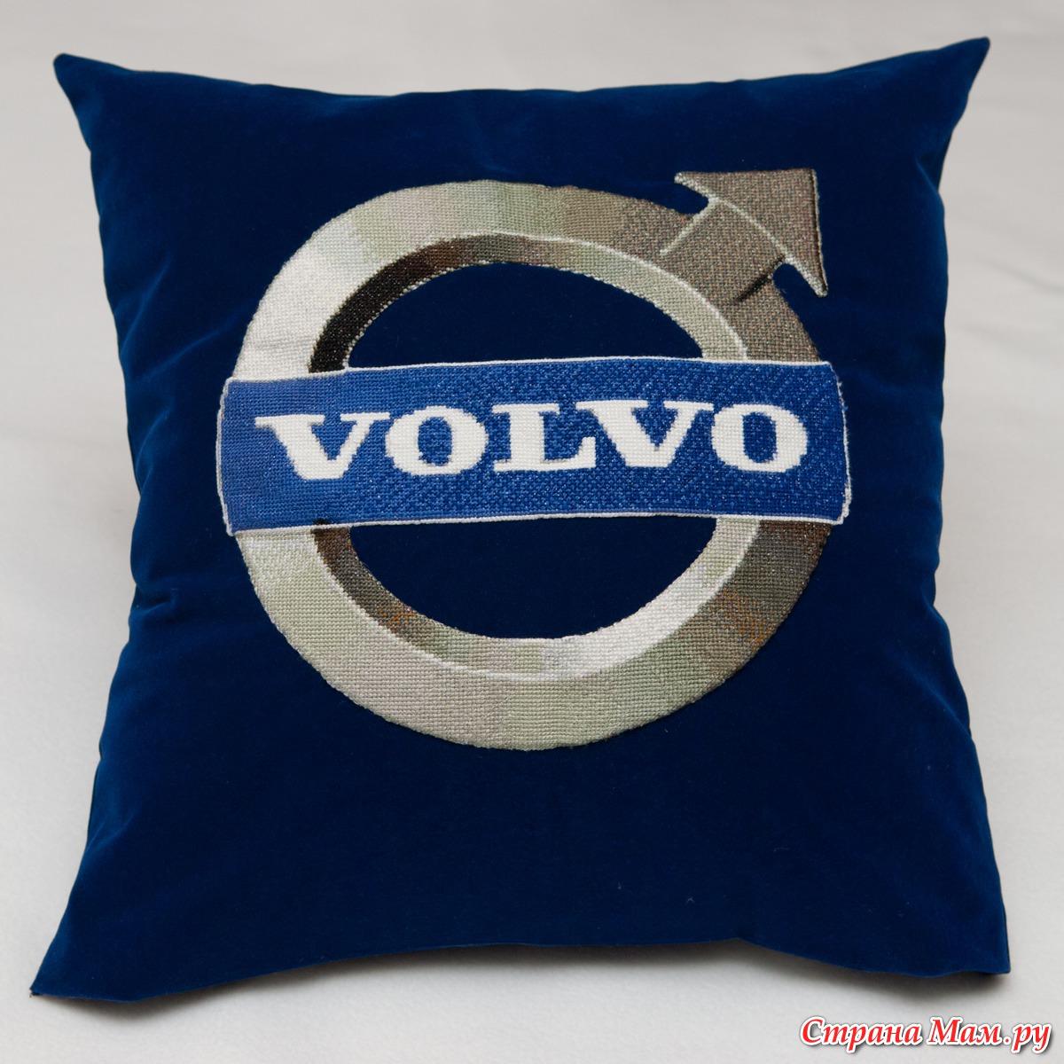 логотип volvo вышить схема