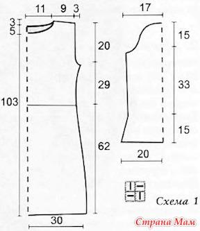 Как сделать выкройку 46 размера