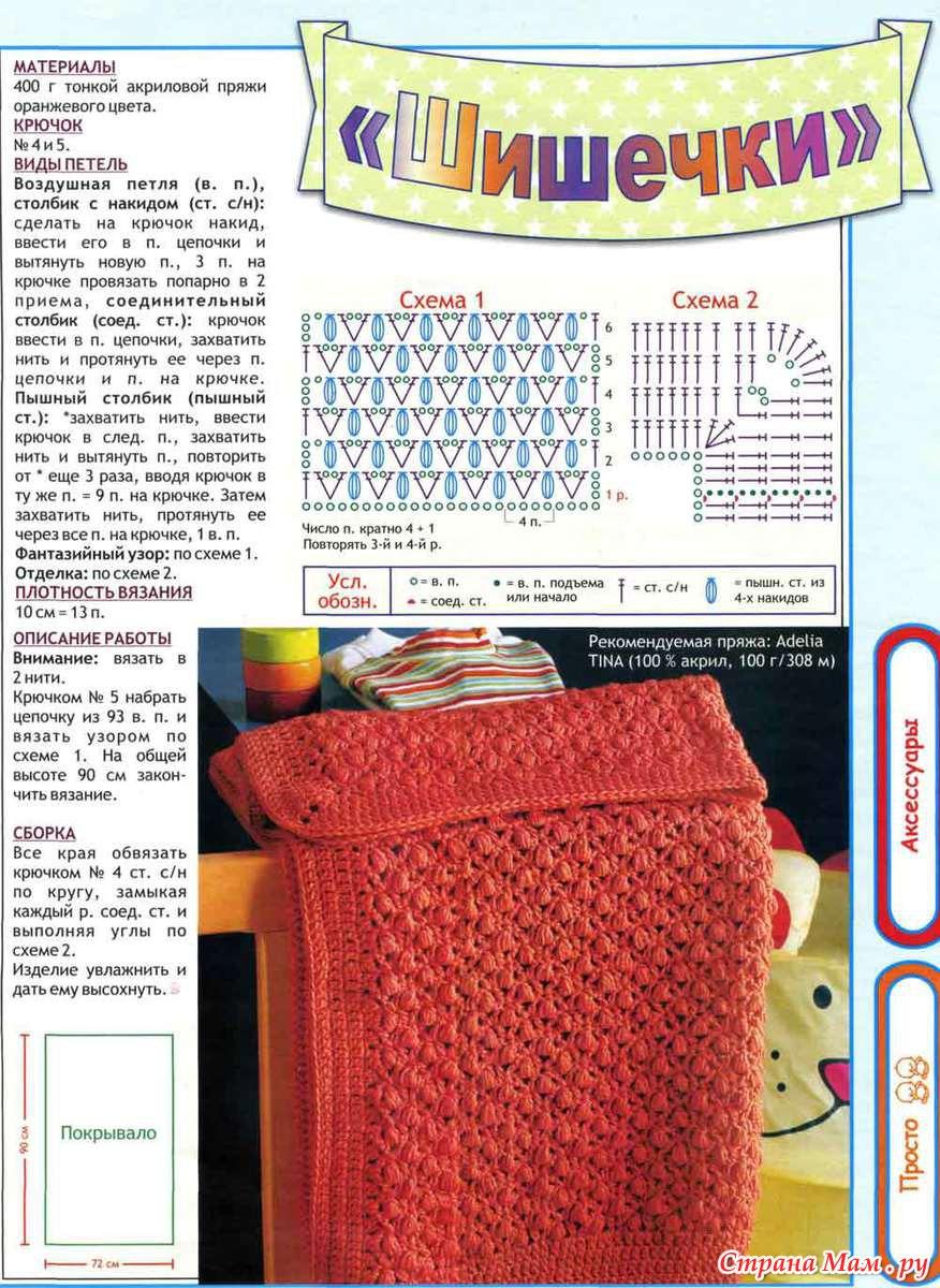 Как вязать пледы спицами : схемы и описание нескольких простых моделей 89