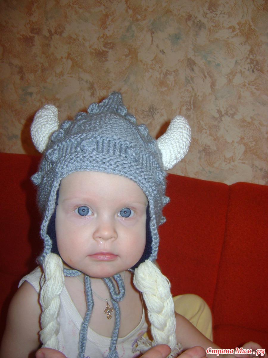Шапка викинга крючком фото