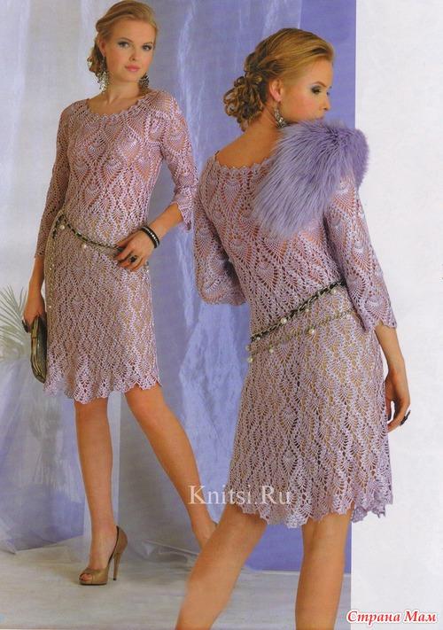 Ананасное платье. Вяжем