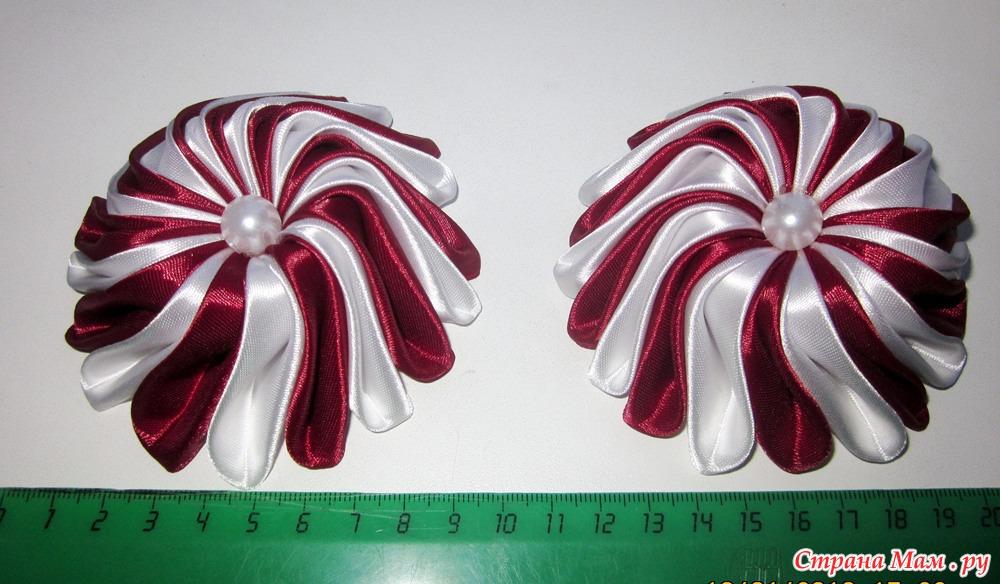 Резинки зефирки из атласных лент своими руками 38