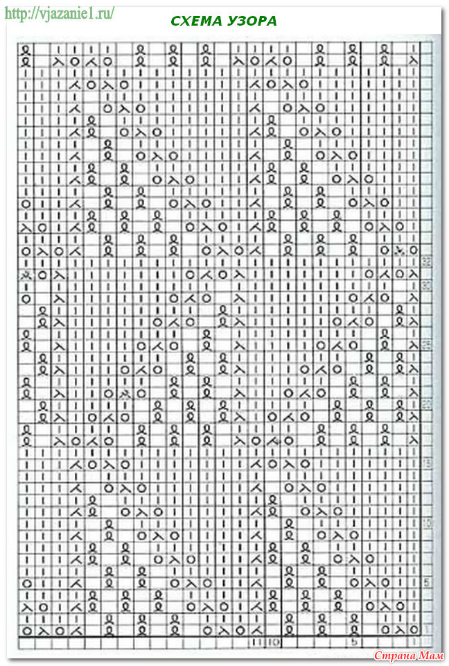 Японские схемы вязания спицами описание на русском 130